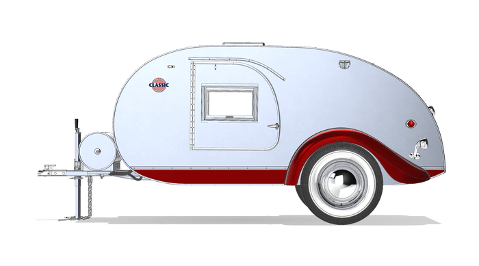 graphic royalty free stock Classic Teardrop Trailer