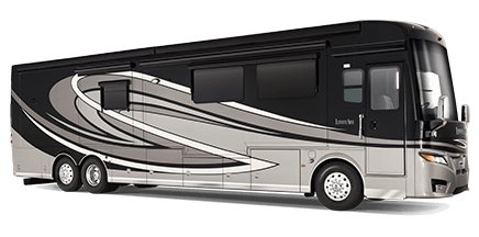 black and white Luxury Motorhomes