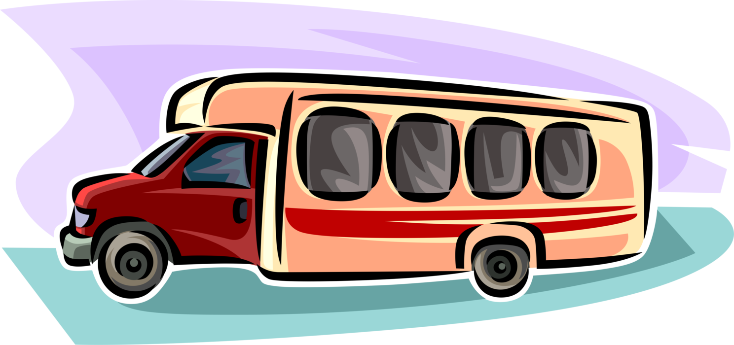 graphic freeuse library Motor vehicle image illustration. Vector bus passenger