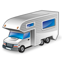 clip art black and white library Camper Trailer Icon With Perfect Styles