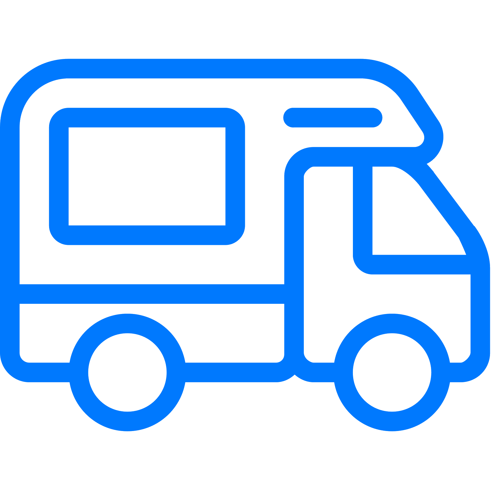 vector royalty free library Camper Icon