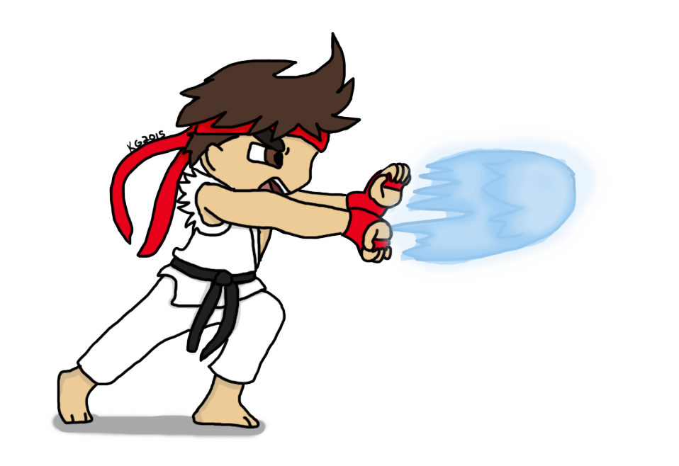 picture library stock ryu drawing hadouken #115436000