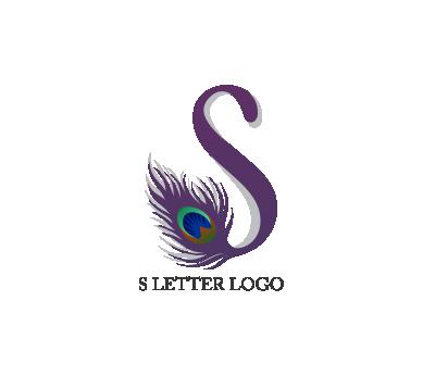 graphic transparent stock S peacock letter logo psd design download