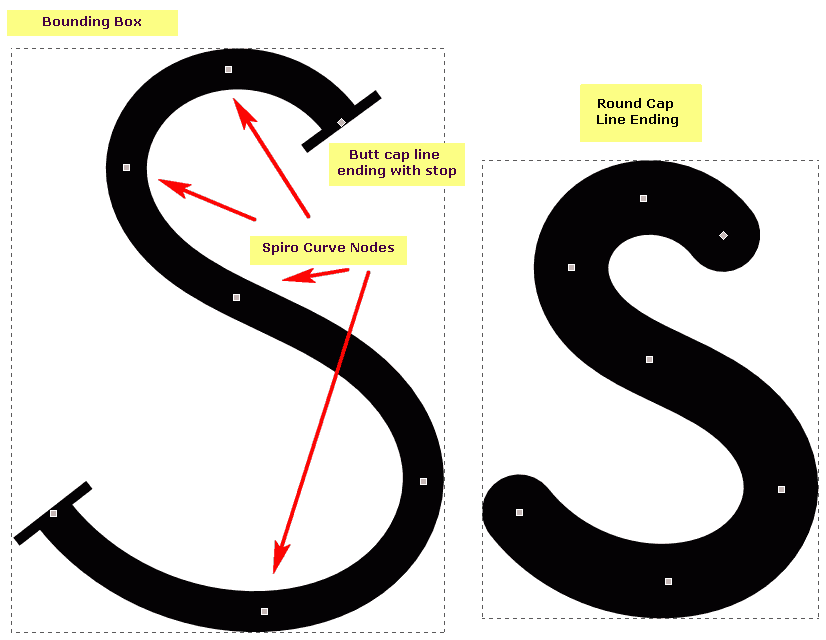 png transparent library Spiro Curves