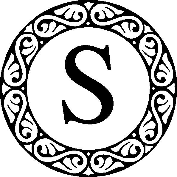 clip art library stock Monogram S Clip Art at Clker