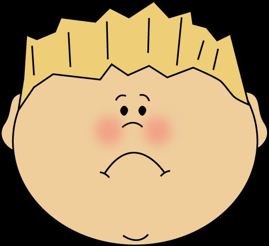 banner free stock Sad Face Boy Clip Art