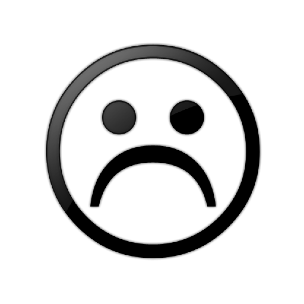 picture transparent Sad Face Black And White hand clipart hatenylo