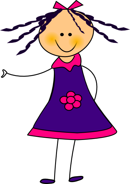 picture library stock Girl Student Clipart