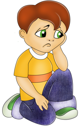 vector royalty free download  collection of png. Sad kids clipart