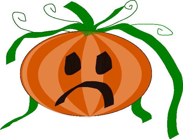 clipart transparent stock Decorated Sad Pumpkin Clip Art at Clker