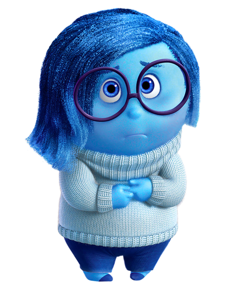 free Sadness Inside Out PNG Clip