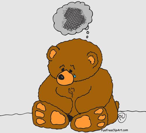 png transparent library Sad Cartoon Bear Clipart