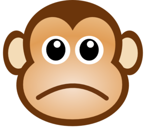 clip art library stock Sadness clipart clip art. Sad monkey at clker
