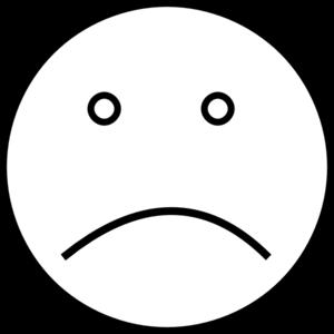 jpg transparent library Sad Smiley Face Clipart