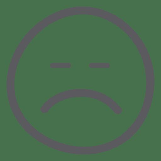 graphic black and white Smiley face emoticon sadness. Black and white emoji clipart