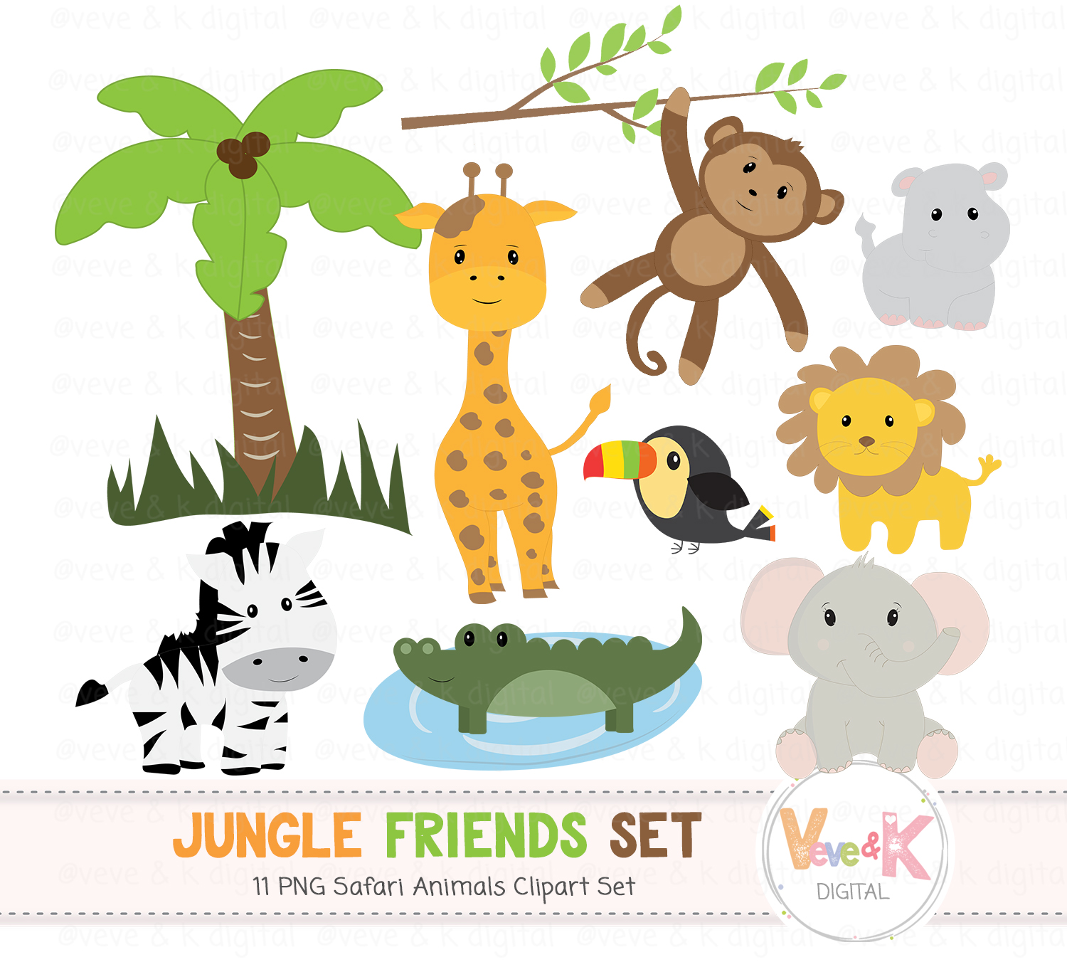 vector black and white download Safari jungle animals clip. Baby animal clipart