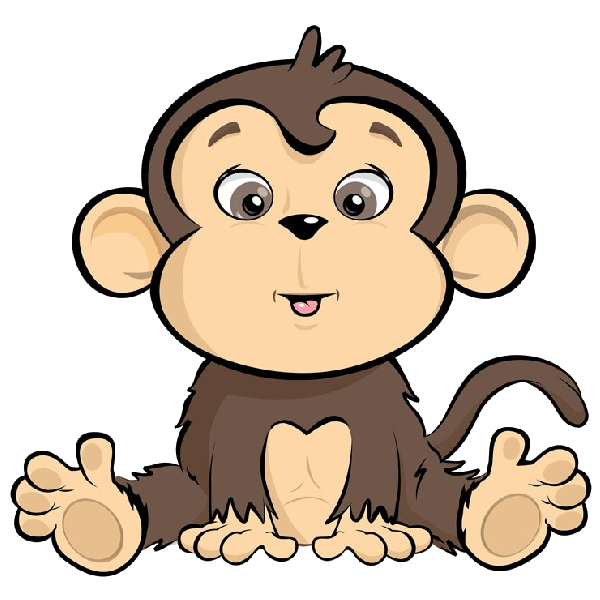 banner free library Ape clipart cute. Cartoon monkey image png