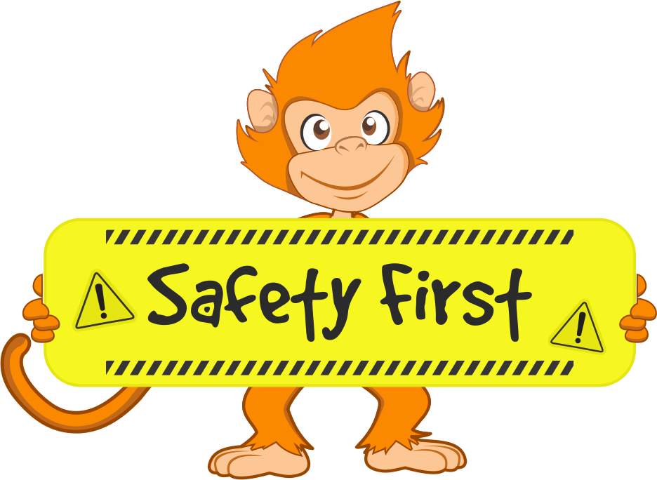 image freeuse stock Safe safety guideline free. Kids jumping on trampoline clipart
