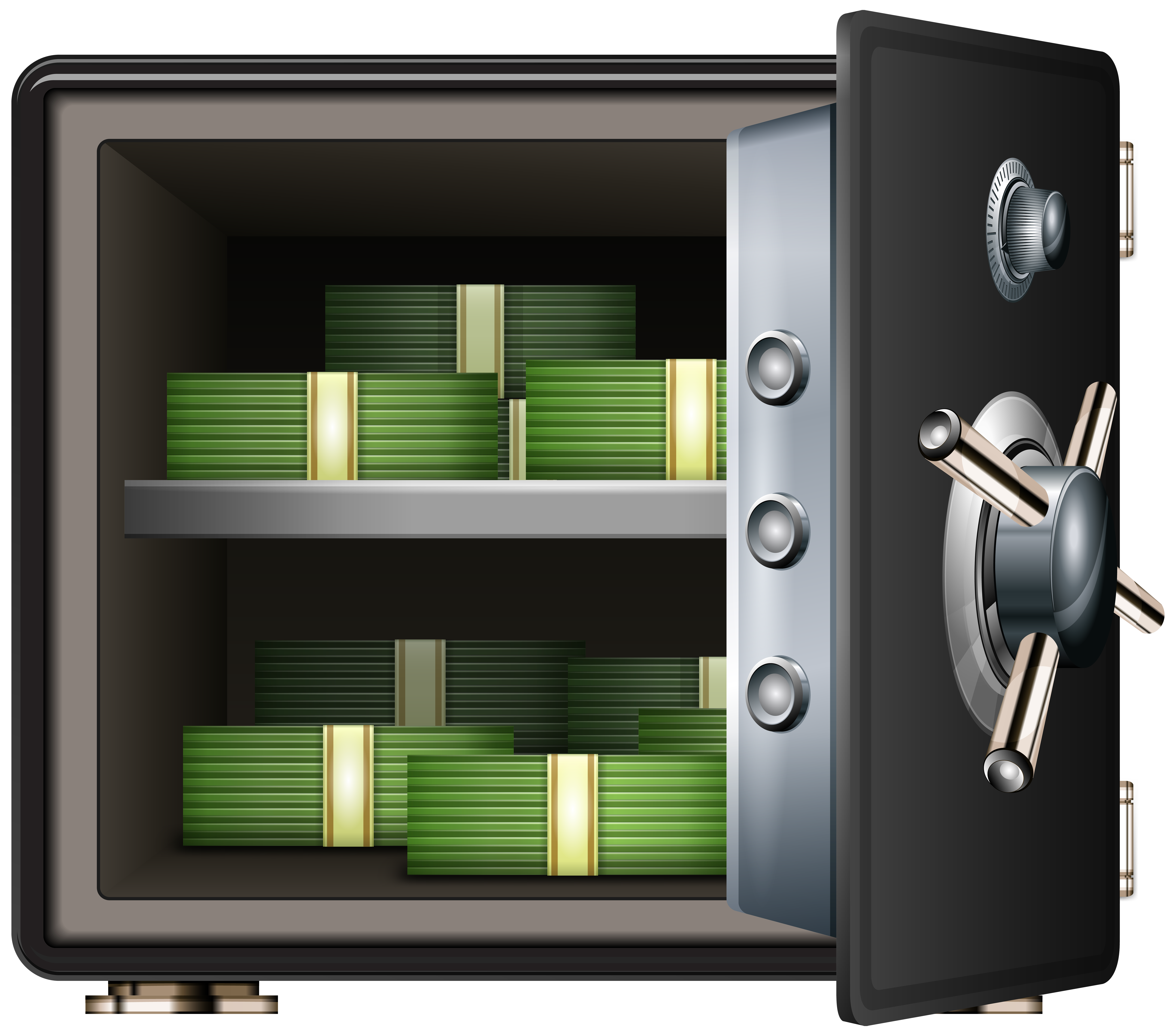 clipart free library Safe clipart. With money png clip.