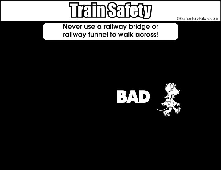 clipart royalty free download Safety Around Railway Bridge