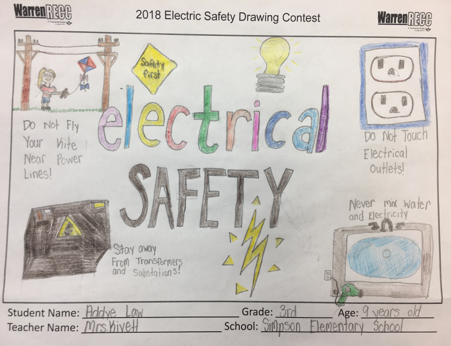 svg royalty free library Electric contest wrecc . Safety drawing.