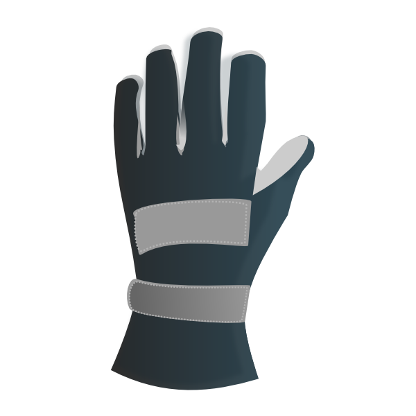 vector stock Racing Gloves Clip Art at Clker