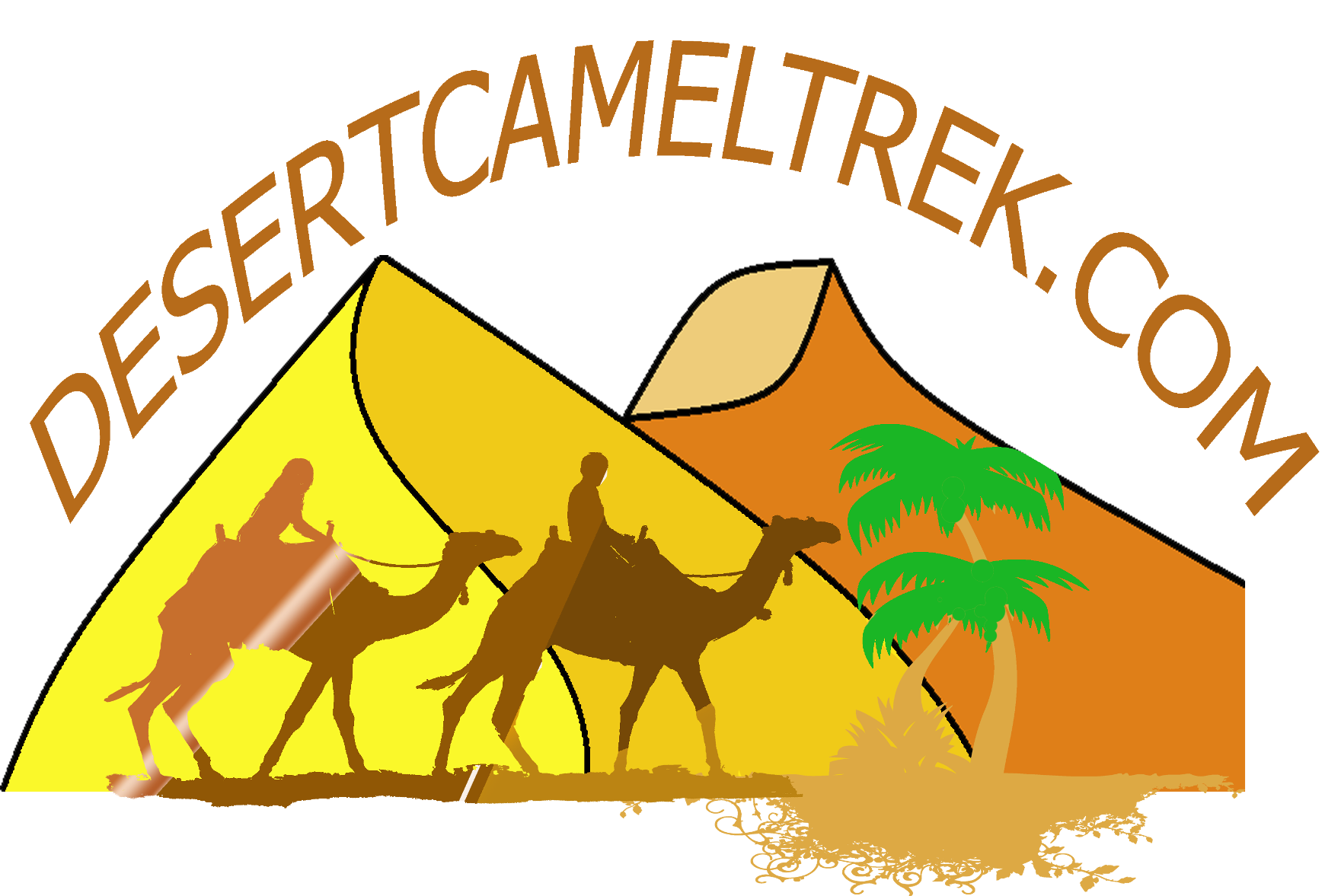 svg library download desert camel trek