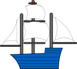 jpg transparent stock Sail clipart 3 boat. Blue sailing ship clip.
