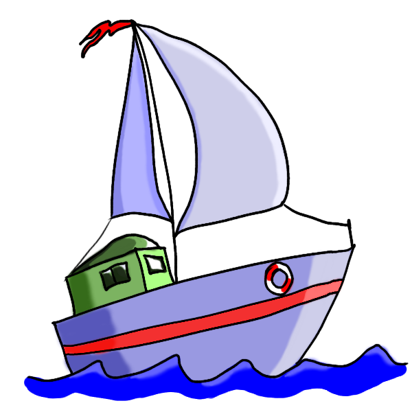 jpg library download Pictures of cartoon boats. Yacht clipart barge