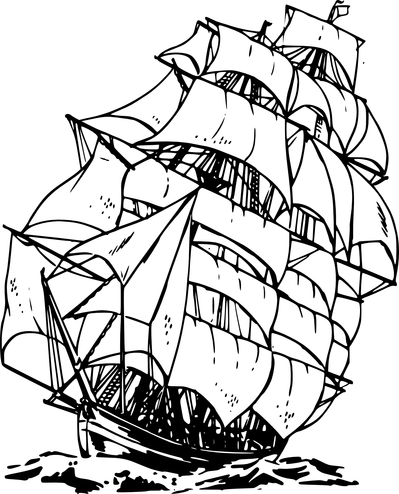 clipart black and white download Pirate Ship Clipart Black And White Clipart Panda Free Clipart