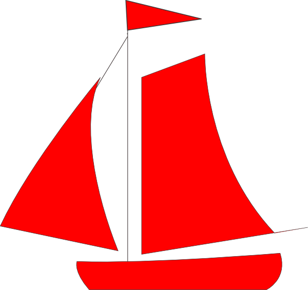 graphic free download Boats clipart illustration. Sail red sailboat free