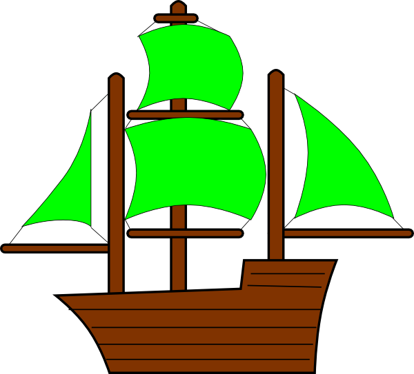 image royalty free Green Pirate Ship Clip Art at Clker