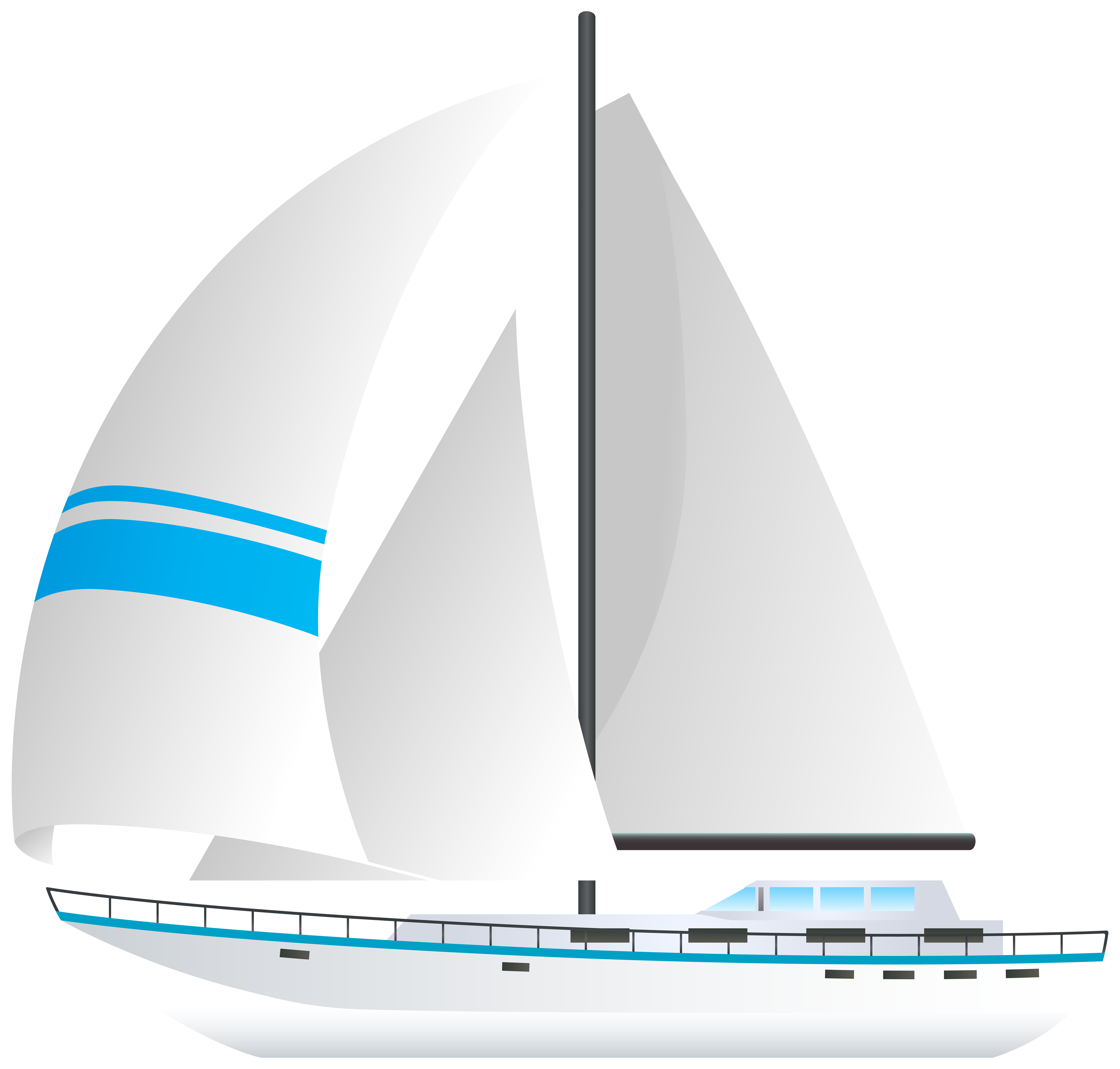 jpg library Yacht clipart transportation. Sailboat png transparent clip