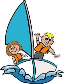 banner library Sail clipart wind surfing