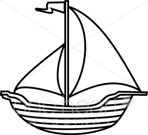 banner library stock Yacht clipart clip art. Sailboat black and white