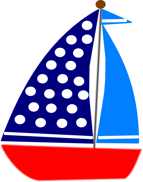clip royalty free stock Blue sailboat panda free. Yacht clipart cute