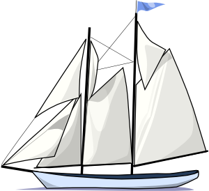 svg black and white download Boat Sail Sideways Clip Art at Clker