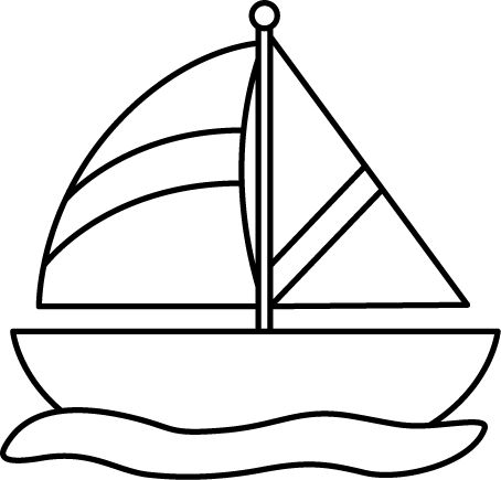 jpg free stock Yacht clipart 3 boat. Sailboat black and white