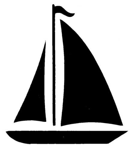 library Yacht clipart silhouette. Sailboat boat clip art