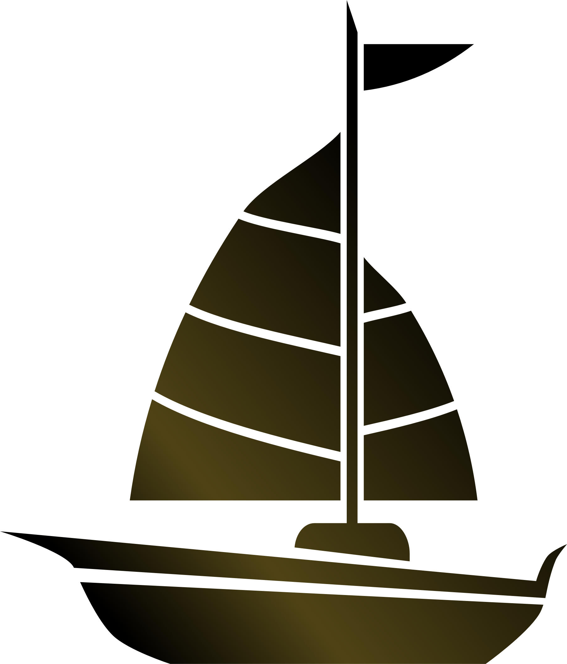 clip Simple Sailboat by