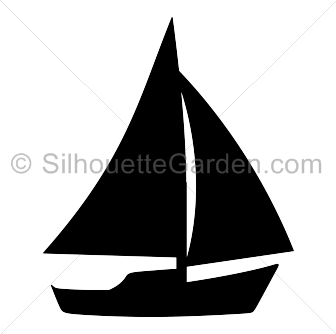 picture royalty free stock Vector boat silhouette. Sailboat clip art download
