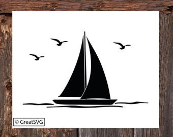 picture freeuse library Etsy . Sailboat svg