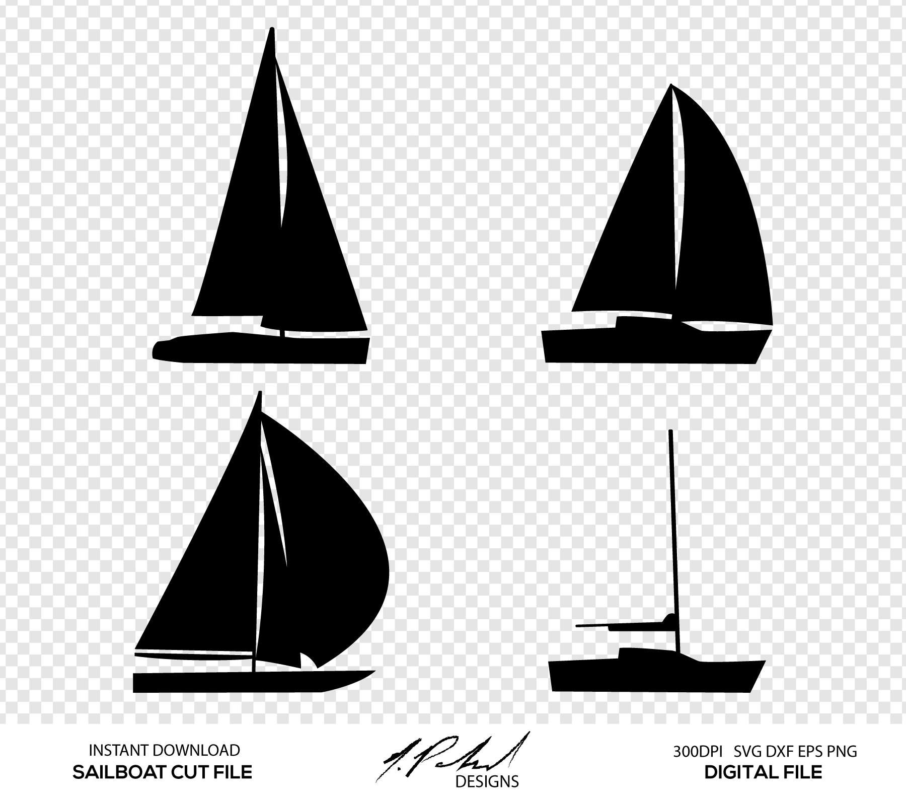 jpg freeuse Digital cut files . Sailboat svg
