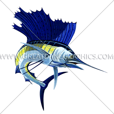 graphic royalty free stock Production ready artwork for. Sailfish vector