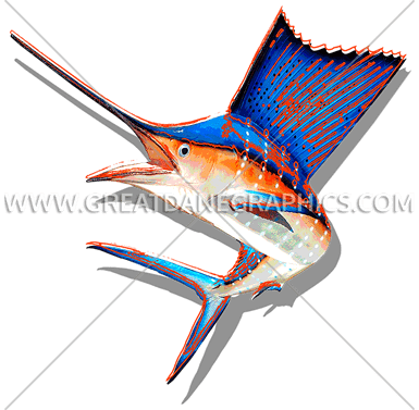 clip freeuse stock Funky production ready artwork. Sailfish vector