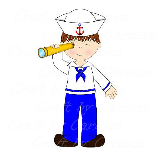 clip art black and white library Sailor clipart. Clip art boat baby.