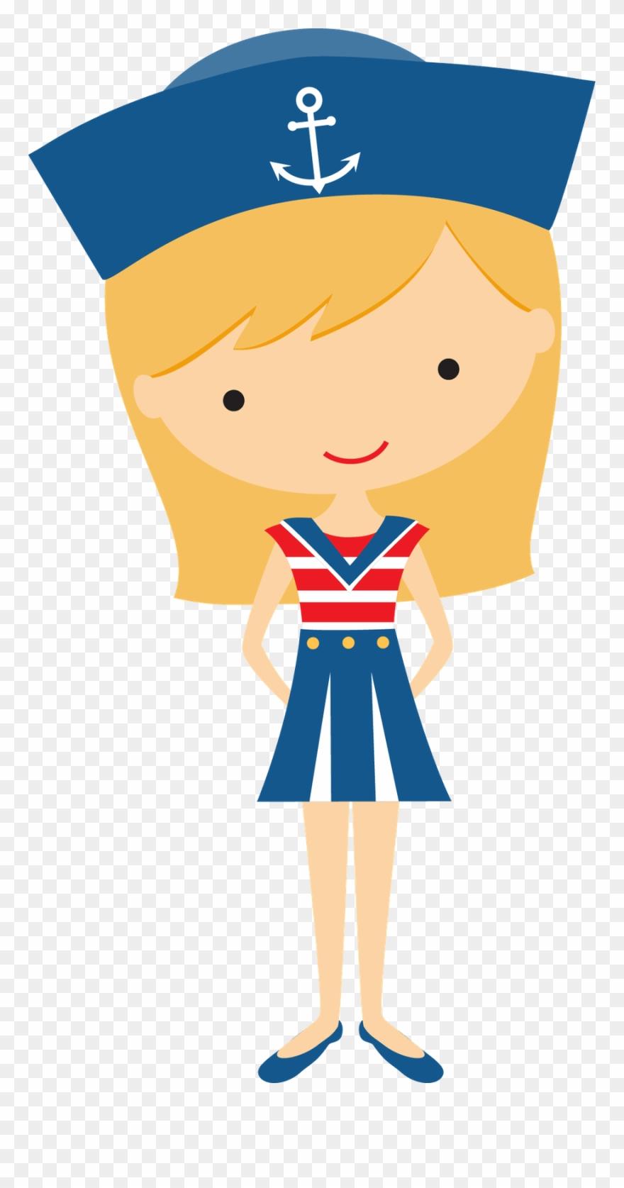 clip Girl clip art nautical. Sailor clipart.