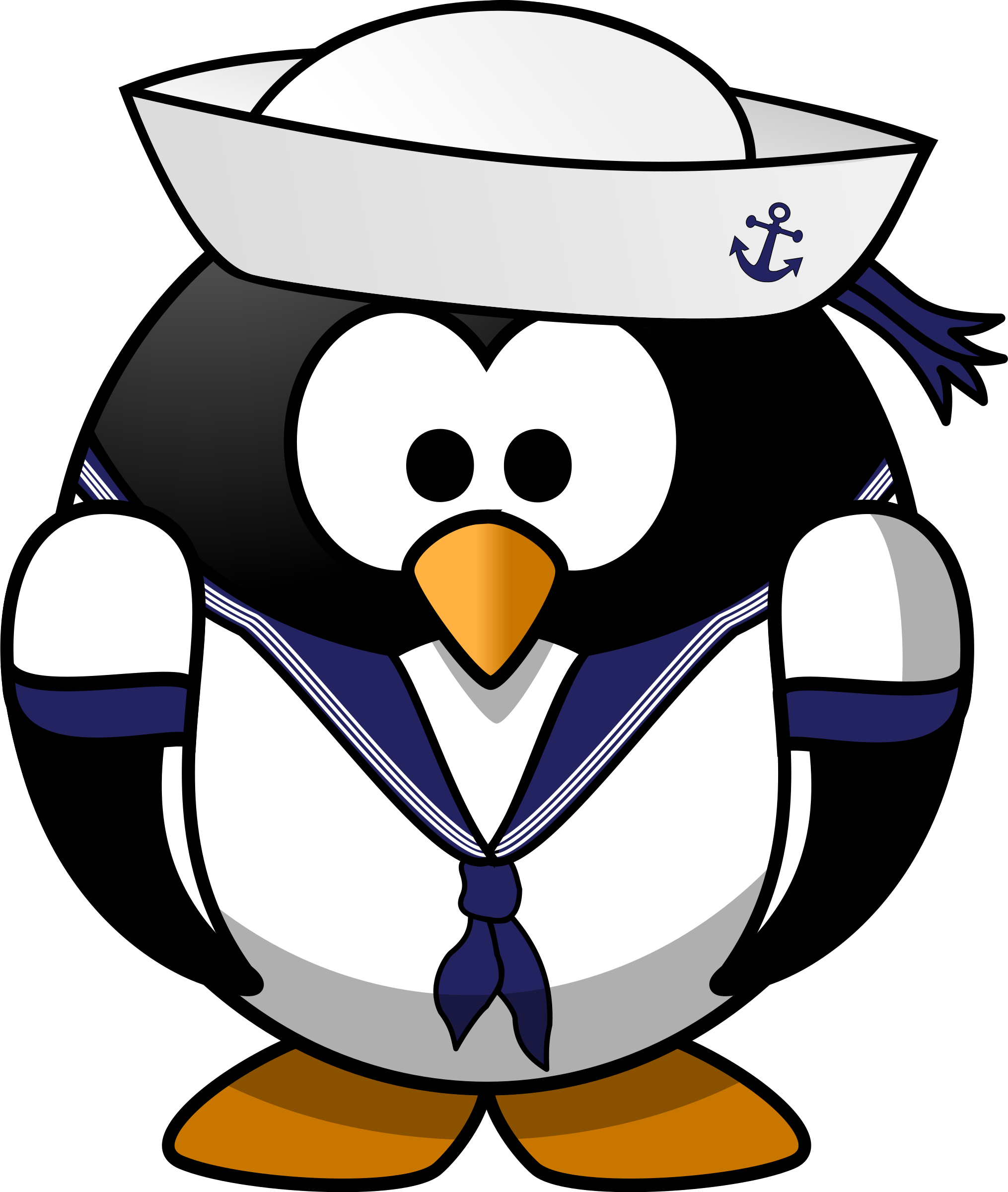 graphic royalty free library Penguin big image png. Sailor clipart.
