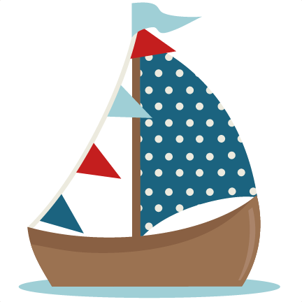 graphic stock Yacht clipart cute. Sailboat svg cutting file