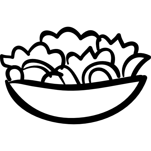 svg Bowl hand drawn food. Salad vector